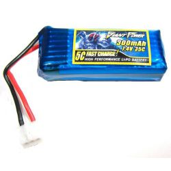 Giant Power 2s 7.4volts 300Mah 35C Li-Po E-Flite 130X