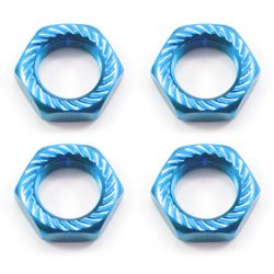 Fastrax 17MM X 1.0 Blue Serrated Wheel Nuts
