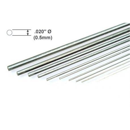"""Metal Rod K&S Piano Wire .020 x 36""""/0.51 x 914mm"""