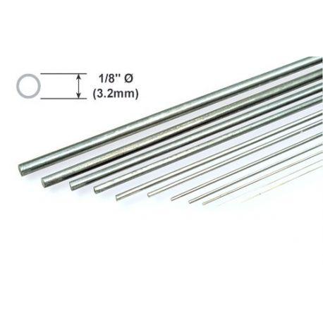 """Metal Rod K&S Piano Wire 1/8 x 36""""/3.18 x 914mm"""