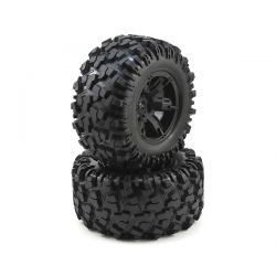 Traxxas X-Maxx Tires & Wheels Pre-Glued Blk