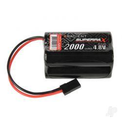 Radient NiMH 4.8V 2000mAh AA Square Rx Pack JR