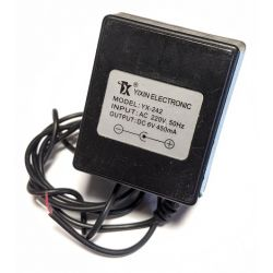AC 220V DC 6V 450mA Adaptor USED