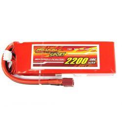 3S 11.1v 2200mAh 30c Dinogy Sport Lipo