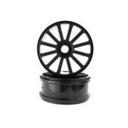 Himoto Black Rim For 1/8 Scale Buggy 2P
