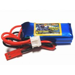 2s 7.4V 300mAh 35C Giant Power Lipo Battery