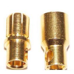 6 mm gold bullet connectors (Pair)