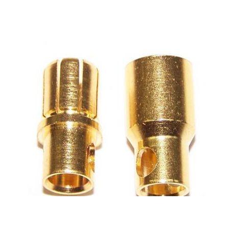 6 mm gold bullet connectors