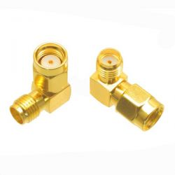 SMA Female to RP-SMA Male Right Angle Adapter