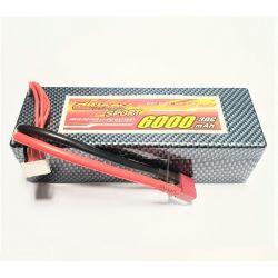 4S 14.8V 6000mAh 30C Hardcase LiPo Deans